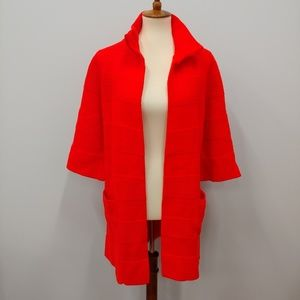 VINTAGE Wintuk British Vogue Red Knit Cardigan
